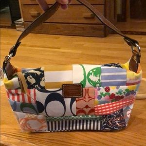 Coach patchwork hobo